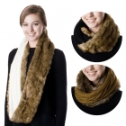 SS2444 Reversable Fur Cable Knit Infinity