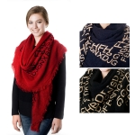 SS2483 Cashmere feel Letter Oversize Scarf
