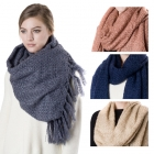 SS2701 SOLID KNIT SCARF With FRINGE