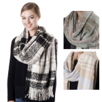 SS2705 CHECK PATTERN BLANKET SCARF