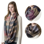 SS2732 REVERSIBLE CHECK COTTON INFINITY SCARF