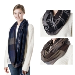 SS2733 Reversible Check Cotton Infinity Scarf