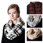 SS2735 Plaid Check Infinity Scarf