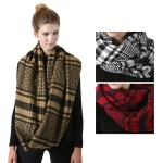 SS2736 Classic Plaid Check Infinity Scarf