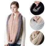 SS2737 2 Tone Knit Infinity