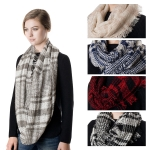 SS2747 Light Weight Plaid Infinity Scarf