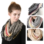 SS2753 VISCOSE SCARF WITH EDGE STRIPPE