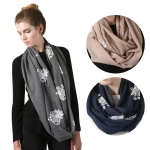 SS2754 VIscose lace infinity scarf