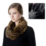 SS2757 Faux Fur Leopard Pattern Neck Warmer