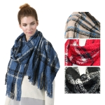 SS2776 Check Pattern Soft Scarf