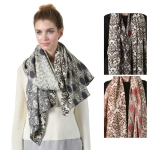 SS2777 ABSTRACT CONTRAST SCARF
