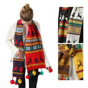 SS2778 Winter Holiday Knit Tassol Scarf