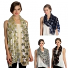 SS2782 Two Tone Flower Sequin Party Shawl