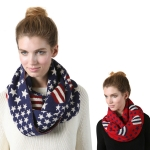 SS2784 Flag Pattern Infinity Scarf