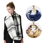 SS2785 Check Pattern Soft Infinity Scarf