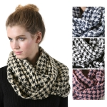 SS2788 Houndstooth infinity scarf