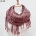 SS2791 Knit Infinity with One Side Fringe