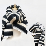 SS2795 Stripe Oblong Scarf Shawl