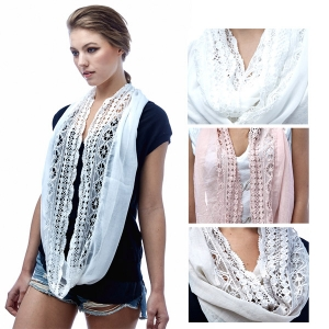 SS2904 Half Lace Infinity Scarf