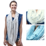SS2908 Dog Embossed Infinity Scarf