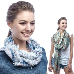 SS2954 Flower & Check Scarf