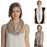 SS2973 Solid Infinity Scarf with Hole