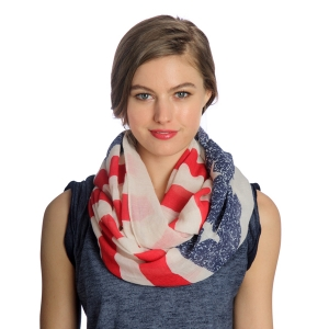 SS2975(IS1132) FLAG INFINITY SCARF
