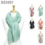 SS3001 LIGHTWEIGHT METALLIC SCARF