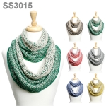 SS3015 METALLIC TWO SIDED KNIT INFINITY