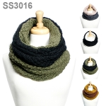 SS3016 REVERSIBLE CHUNKY TURTLENECK MUFFLER