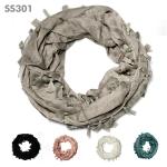 SS301 Tassel Infinity Scarf