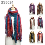SS3024 MULTICOLOR SOFT KNITTED SCARF
