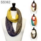 SS362 3COLOR GLITTER KNIT INFINITY