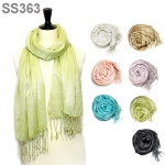 SS363 Solid Metallic Scarf