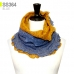SS364 Two Tone Layered Infinity Scarf