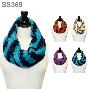 SS369 2 TONED STRIPED INFINITY SCARF