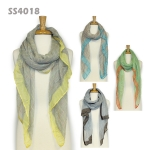 SS4018 Multicolor Weaving Check Cotton Scarf