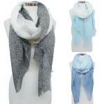 SSH7510 Two Toned Gradient Ombre Oblong Scarf