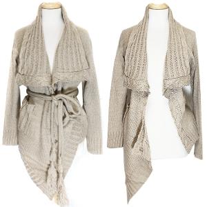 SW005(NT005) Unbalanced Sweater w. Belt