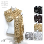 SHW207 Sequin Metallic Shawl