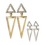 UER9959B Triangle Shape Dripping Earring (Dozen)