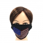 UMK2209 Rhinestone American Flag Fashion Mask (6Pcs Pack)