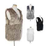 VST2046 Faux Fur Vest w/two textures