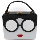 Y0279 Lady Face Acrylic Box Bag