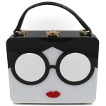 Y0279 Lady Face Acrylic Box Bag