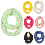 YC001 GOLD ANCHOR INFINITY SCARF