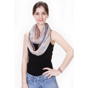 YC044 Floral Print Infinity Scarf
