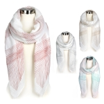 YC068 CHEVORON DESIGN OBLONG SCARF