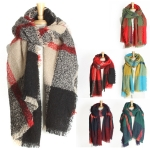 YC076 CLASSIC PLAID OVER SIZED SCARF