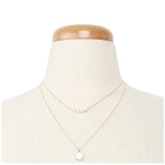 YN3300 Double Pearl Layered Necklace